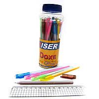 "Ручка масляная Wiser ""DOXE"" 0,6мм банка/30шт, корпус mix, синяя"
