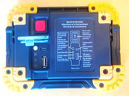 Фонарь прожектор 6003A, 10W, Power Bank, фото 3