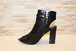 Босоножки женские черные на каблуке Б309, фото 2
