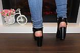 Босоножки женские черные на каблуке Б309, фото 4