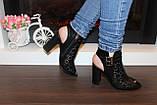 Босоножки женские черные на каблуке Б309, фото 5