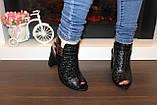 Босоножки женские черные на каблуке Б309, фото 6