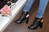 Босоножки женские черные на каблуке Б309, фото 7