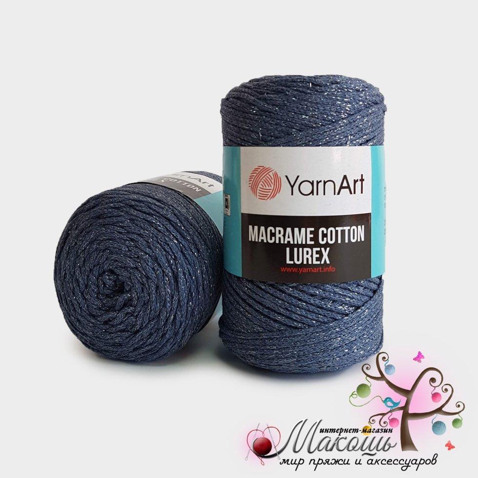 Пряжа Macrame Cotton lurex YarnArt, №730, джинс