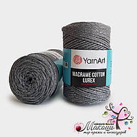 Пряжа Macrame Cotton lurex YarnArt, №737, т. серый