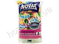 """Губка кухонная для тефлона и керамики """"Novax"""" Plus 10x7x4см"""