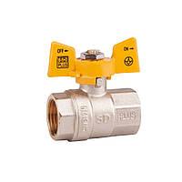 Кран SD Plus газ 3/4 Pn 40 бабочка ВВ