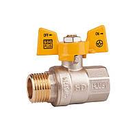 Кран SD Plus газ 1/2 Pn 40 бабочка ВН