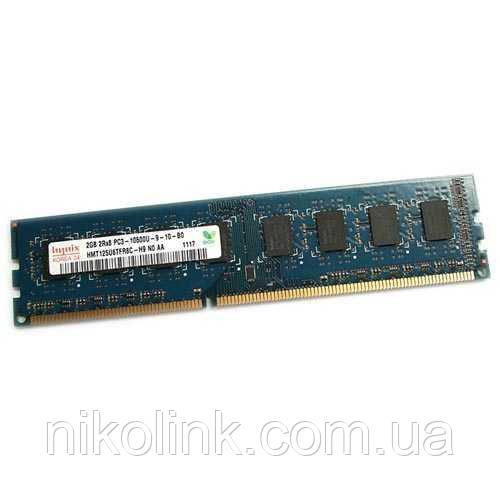 Память Hynix DDR3 2GB PC3-10600U (1333Mhz) (HMT125U6TFR8C-H9)(8x2) - Б/У