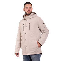 Мужская осенняя куртка Finn Flare В16-21004 бежевого цвета