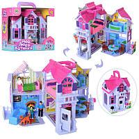 Игровой набор Домик для кукол с куклами, мебель, аксессуары,F611