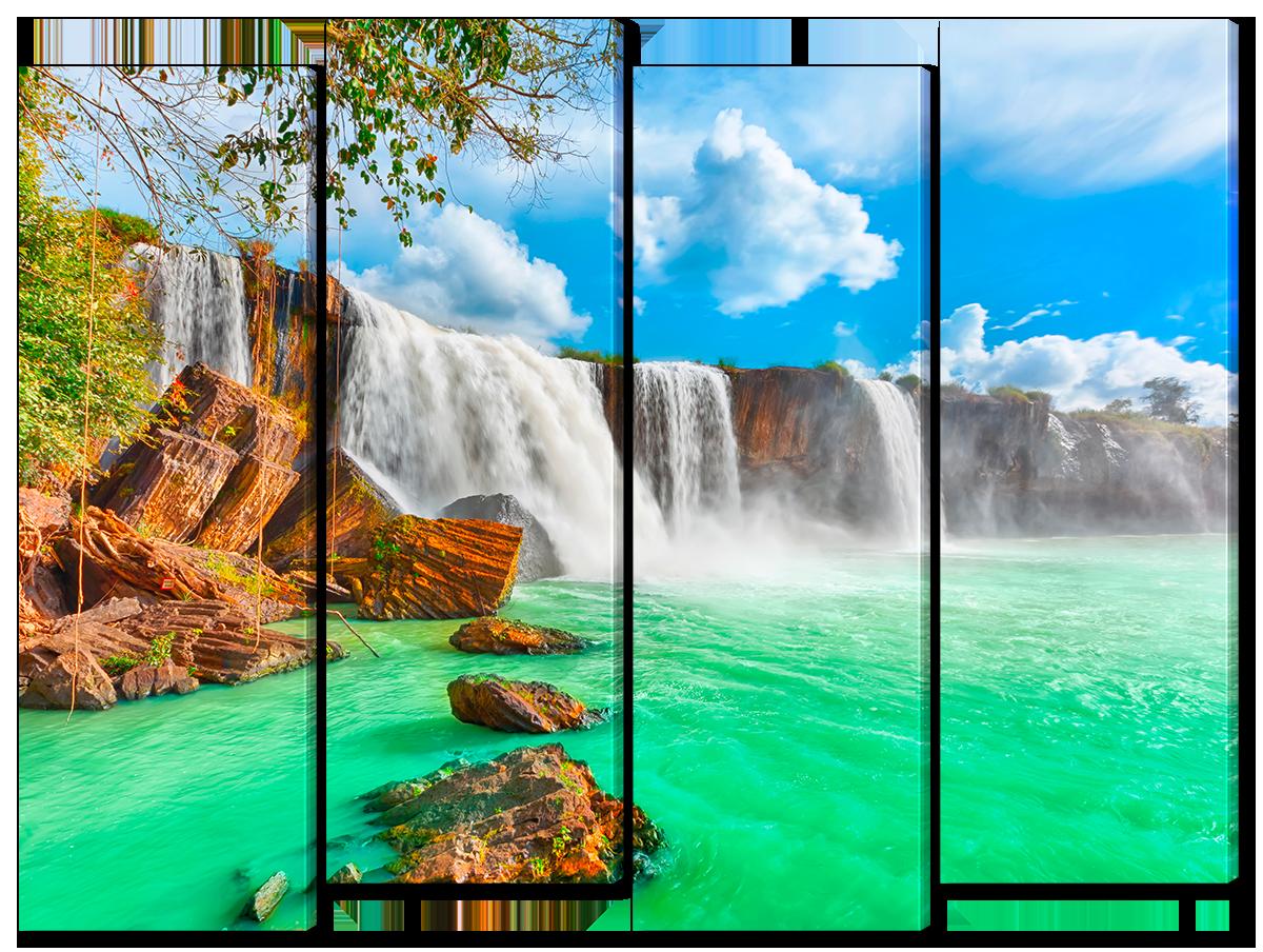 Модульная картина Interno Холст Водопад в Азии 104х79см (R1547M)