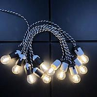 Ретро гирлянда для помещений Alphatrade, 15 метров 30 филаментных LED ламп, зебра