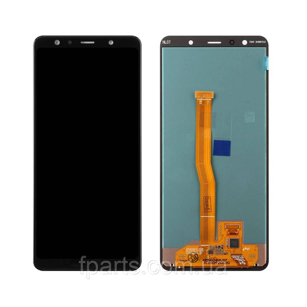 Дисплей для Samsung A750 Galaxy A7 2018 с тачскрином, Black (OLED)