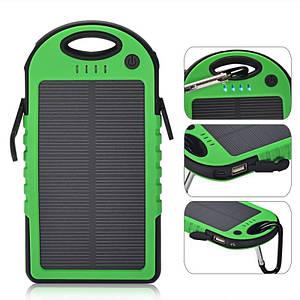 Портативное зарядное Power Bank Solar 45000 mAh на солнечной батареи, зелёный