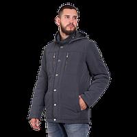 Мужская осенняя куртка Finn Flare В16-21004 серого цвета
