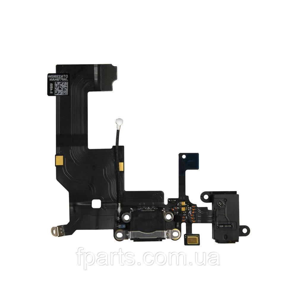 Шлейф iPhone 5G коннектор зарядки, Black (Original PRC)