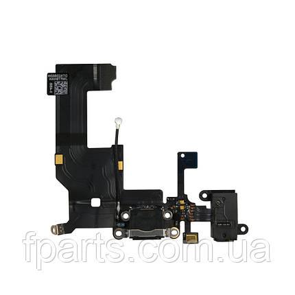 Шлейф iPhone 5G коннектор зарядки, Black (Original PRC), фото 2