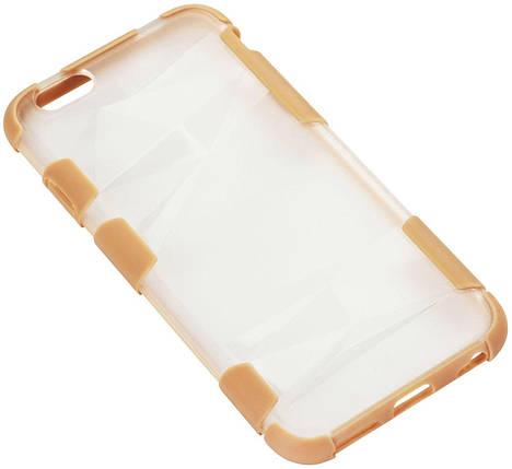 Чехол-накладка TOTO TPU+PC+PU case iPhone 6/6s Gold, фото 2