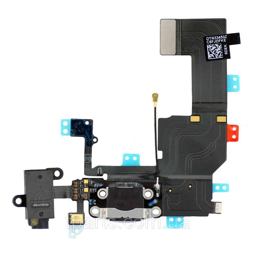 Шлейф iPhone 5C коннектор зарядки, микрофон