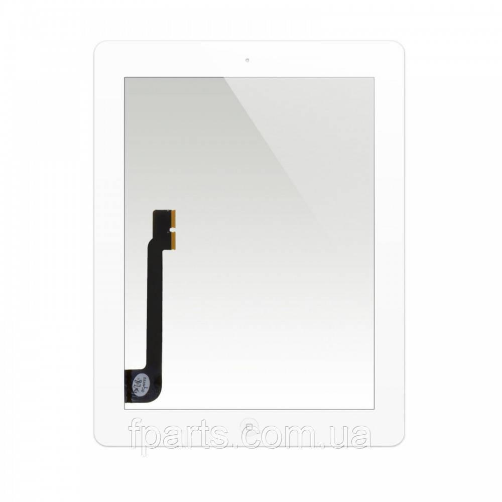 Тачскрін iPad 3, iPad 4 (A1416/A1430/A1403/A1458/A1459/A1460) з кнопкою, White