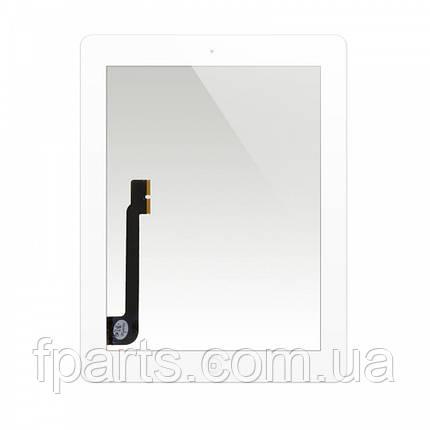 Тачскрін iPad 3, iPad 4 (A1416/A1430/A1403/A1458/A1459/A1460) з кнопкою, White, фото 2
