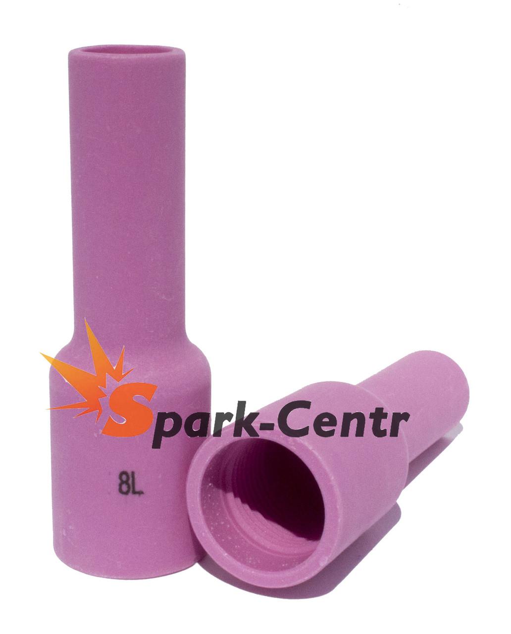 Сопло газовое №8 удлиненное для газовой линзы 75 мм, Ø13 мм серия 54N14L для горелки WP-17/18/26