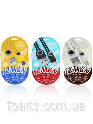 Кабель Micro-USB Remax Lemen Data RC-101 1m, фото 2