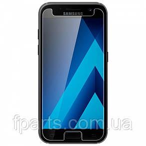 Защитное стекло Samsung A520 Galaxy A5 2017 (2.5D) Прозрачное, фото 2