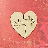 """Фигура из фанеры """"Сердце"""" , 2 шт, 10*10 см"""