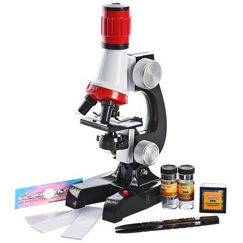 Детский научный Микроскоп с аксессуарами (максимальное увеличение в 1200)