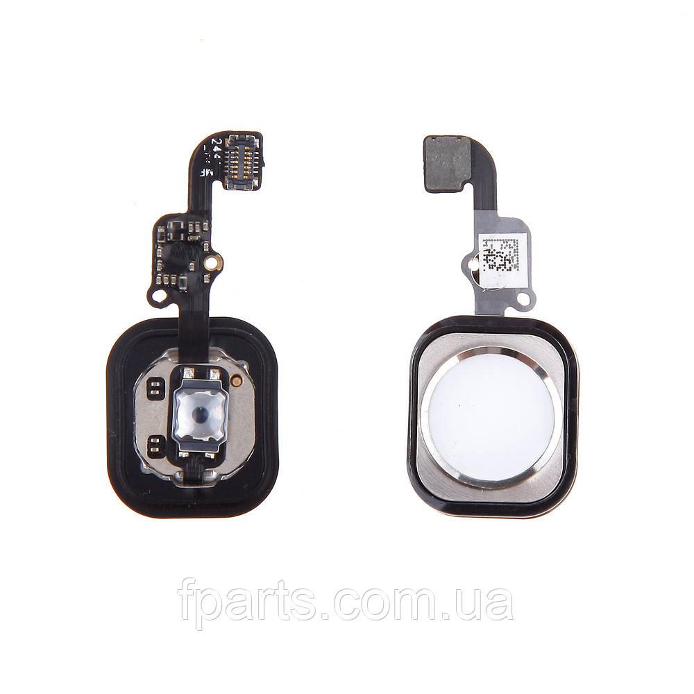 Шлейф iPhone 6, iPhone 6 Plus кнопка HOME, White (Original PRC)