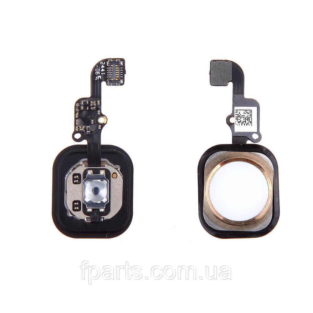 Шлейф iPhone 6, iPhone 6 Plus кнопка HOME, Gold (Original PRC)