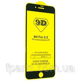 Защитное стекло iPhone 7 Plus, iPhone 8 Plus Full Glue (Black)