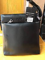 Мужская сумка через плечо от фирмы Polo без клапана опт розница, фото 1