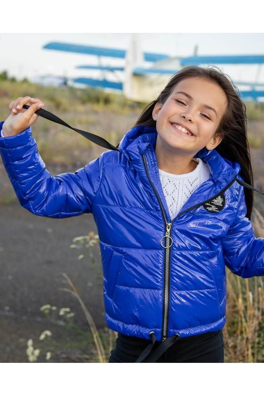 Детская демисезонная куртка для девочки vkd16 , размеры 122-152