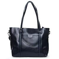 Женская сумка синего цвета  из натуральной кожи, классика, фото 1