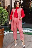 Женский костюм двойка жилет и брюки большого размера.Размеры:48-58.+Цвета