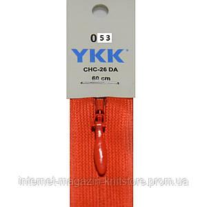 Молния YKK потайная 35см Оранжевый