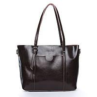 Женская сумка коричневого цвета из натуральной кожи, классика, фото 1