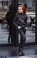 Детский  теплый спортивный костюм  для девочки . Р.128-152. Новый.(AL-6764), фото 1