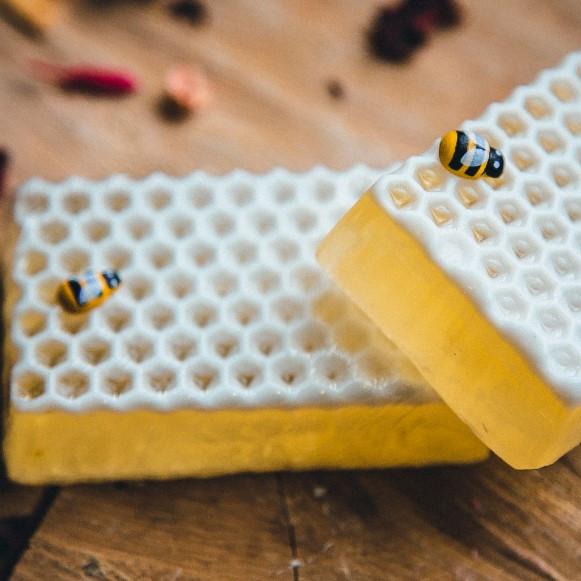 Мыло Медовая мечта (прямоугольный), медовое мыло, мыло с медом
