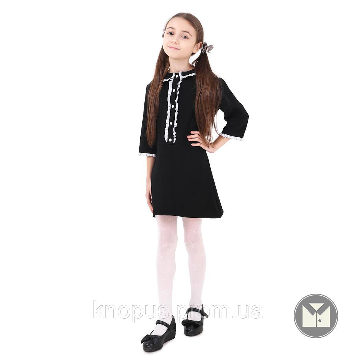 Платье для девочки, Liana рукав 3/4, черное, Timbo, размеры 122-152