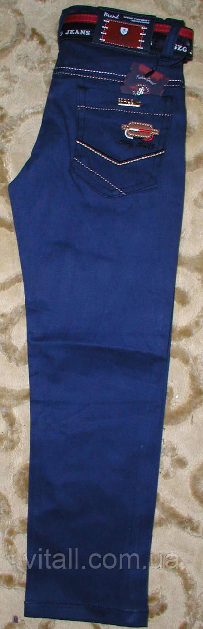 Джинсы стильные коттон от 5 до 8 лет синие