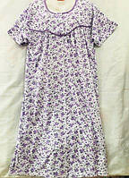 """Ночная рубашка женская батальная на байке, размеры L-3XL (3 цв) """"SHELLY"""" купить недорого от прямого поставщика"""