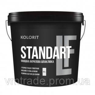 Шпаклевка финишная, акриловая, Колорит Standart LF (Kolorit) 17 кг