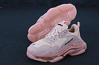 Женские кроссовки Balenciaga Triple S Pink