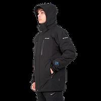 Мужская горнолыжная куртка Columbia OMNI-HEAT (3в1) 7797-10 черного цвета