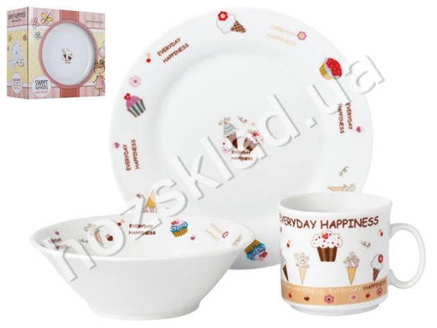 "Набор посуды детской фарфор Limited Edition ""Sweet happiness"" 3 предм (чашка, тарелка, супник) 86560, фото 2"