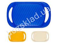 Поднос прямоугольный пластиковый 43х25,5х4см (цвета ассорти)